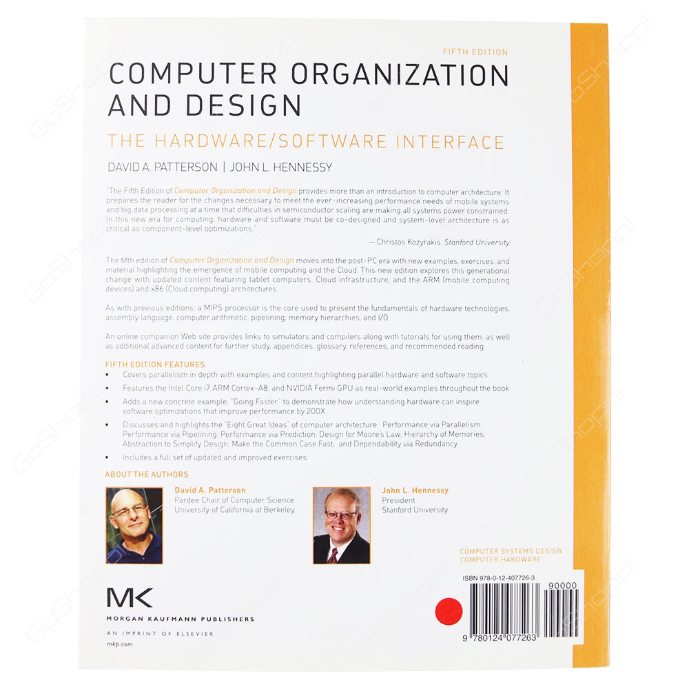 Computer Organization And Design The Hardware/Software