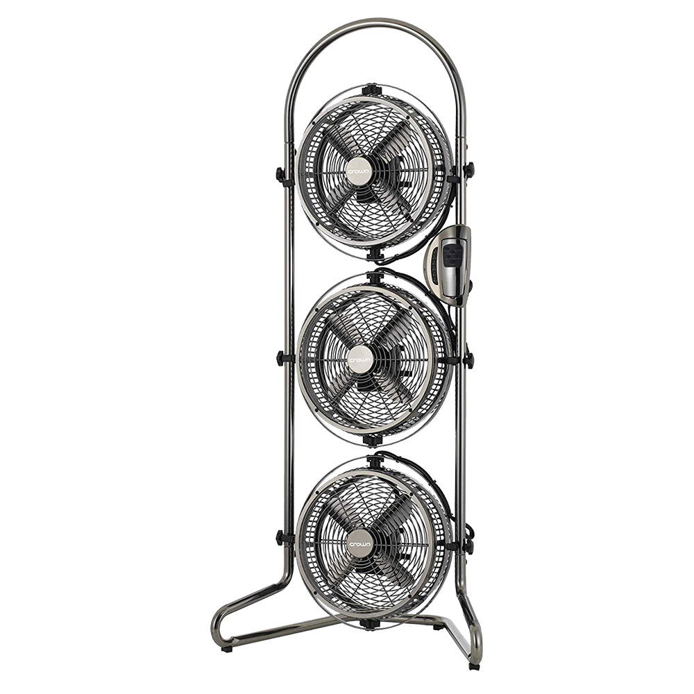 Crownline 9 Inch Electric Triple Fan With Remote - TF-218