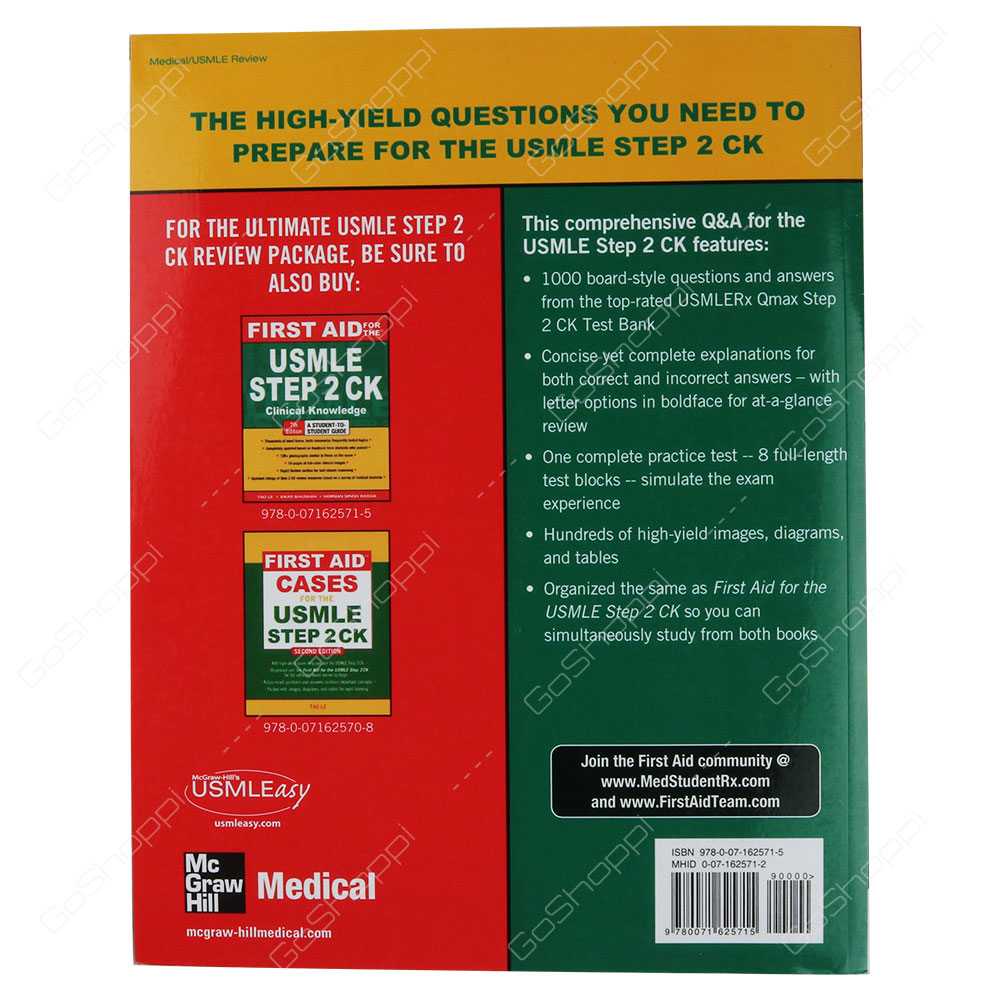 First Aid Q&A For The USMLE Step 2 CK Second Edition By Tao