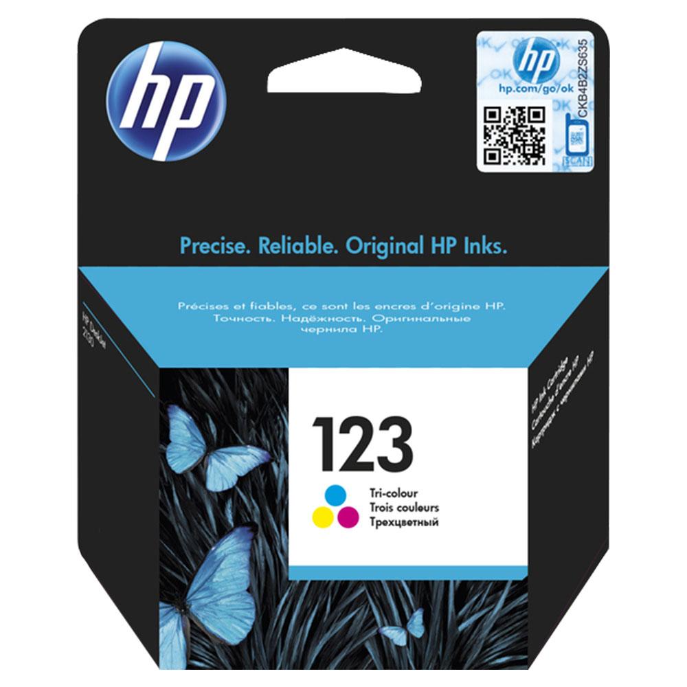 HP 123 Tri-Color Original Ink Catridge - F6V16AE