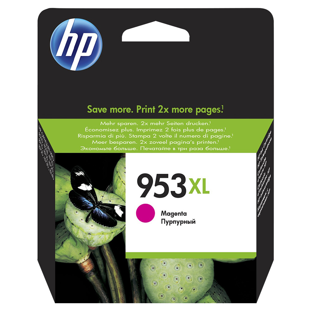 HP 953XL Magenta High Yeild Original Ink Catridge - F6U17AE