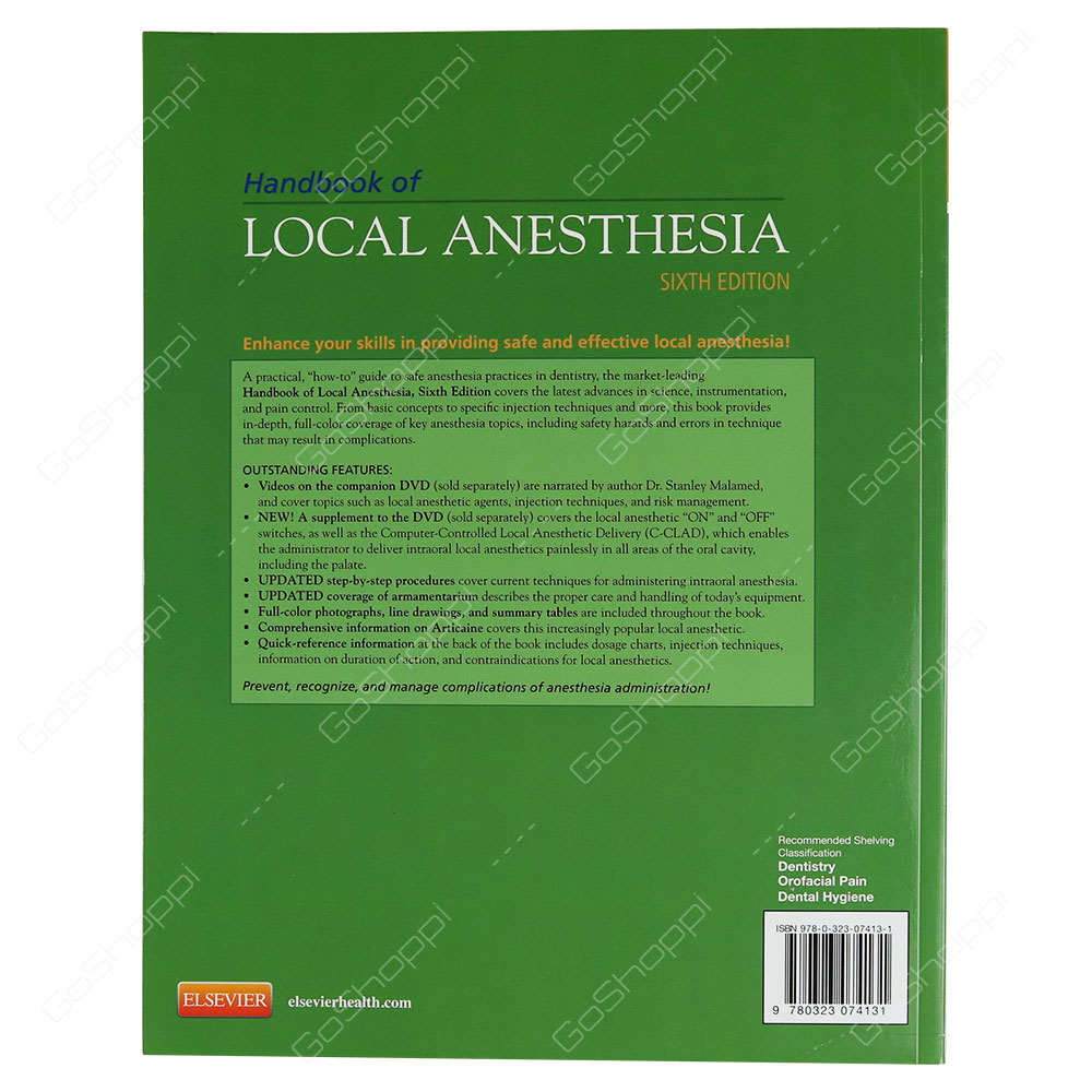 Handbook Of Local Anesthesia Book And DVD Package By Stanley F