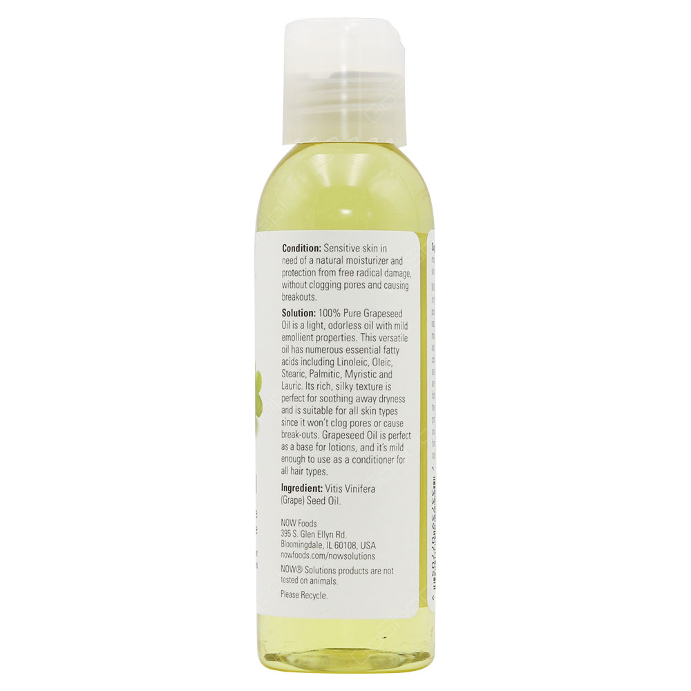 Now Solutions Grapeseed Oil 118ml