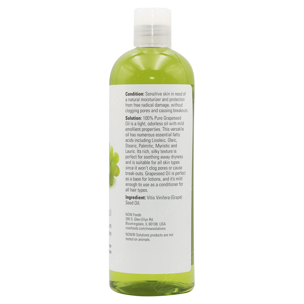 Now Solutions Grapeseed Oil 473ml