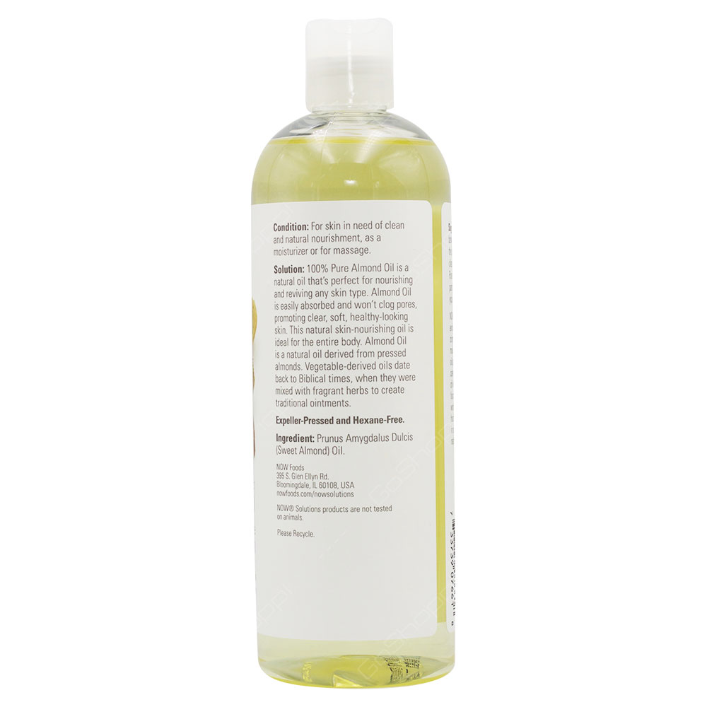 Now Solutions Sweet Almond Oil 473ml